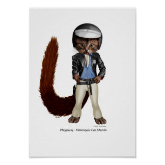 Playpussys, Motorcycle Cop Marvin Poster