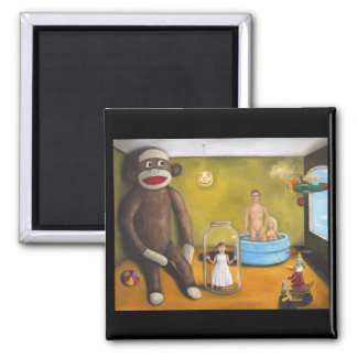 Playroom Nightmare 2 2 Inch Square Magnet