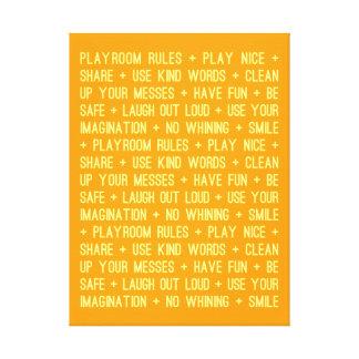 "Playroom Rules - 18"" x 24"" Canvas Print"