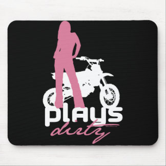 Plays Dirty - Girl Mouse Pad