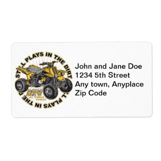 Plays in the Dirt ATV Custom Shipping Labels