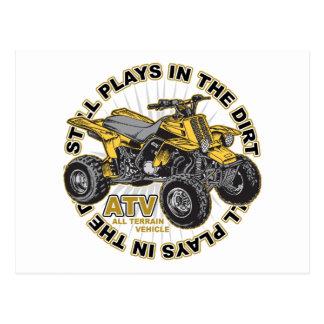 Plays in the Dirt ATV Postcard