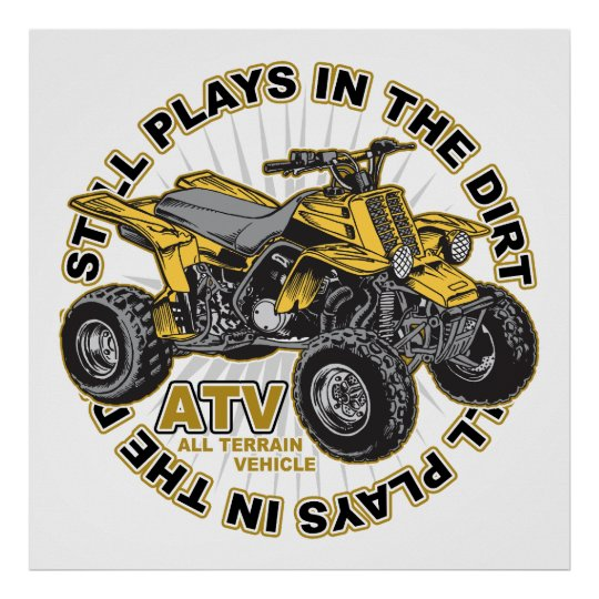 Plays in the Dirt ATV Poster