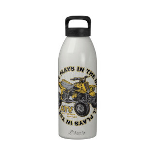 Plays in the Dirt ATV Water Bottle