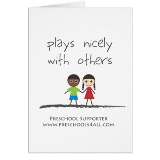 plays nicely with others card