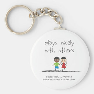 plays nicely with others keychain