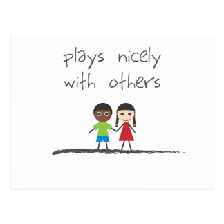 Plays Nicely With Others Postcard