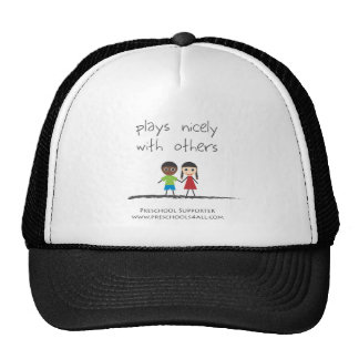 plays nicely with others trucker hat