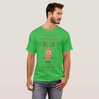 Plays Reindeer Games Christmas Tee