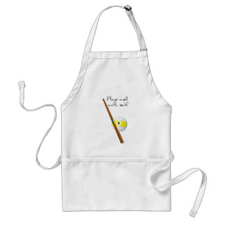 Plays Well Funny Saying Apron