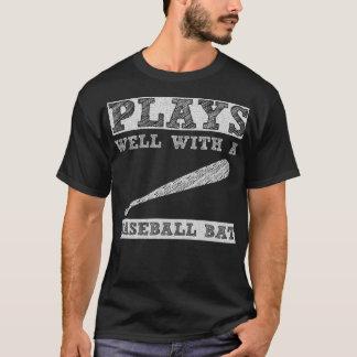 Plays Well with a Baseball Bat Player T-Shirt