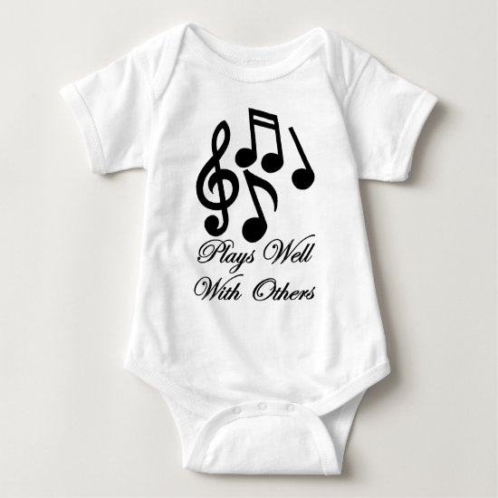 plays well with others baby bodysuit