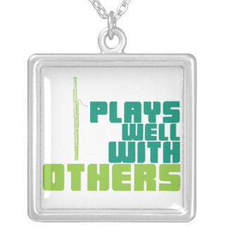 Plays Well with Others - Bassoon Square Pendant Necklace