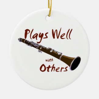 Plays Well with Others Clarinet Christmas Tree Ornament