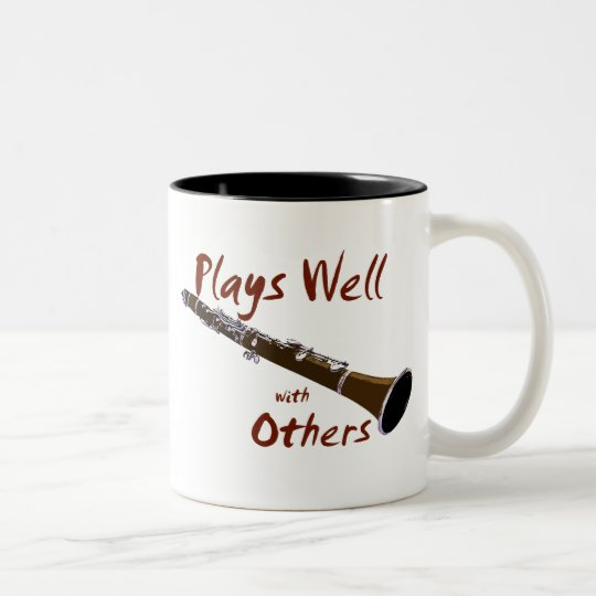 Plays Well with Others Clarinet Two-Tone Coffee Mug
