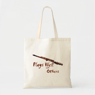 Plays Well with Others Flute Canvas Bag