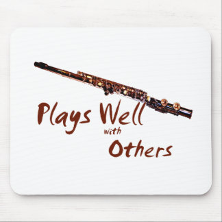 Plays Well with Others / Flute Mouse Pad