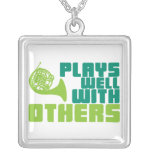 Plays Well with Others - Horn Personalized Necklace