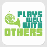 Plays Well with Others - Horn Sticker