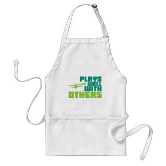 Plays Well with Others - Trumpet Adult Apron