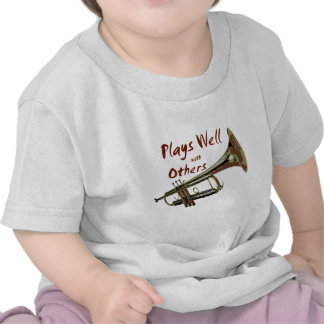 Plays Well with Others Trumpet T-shirt