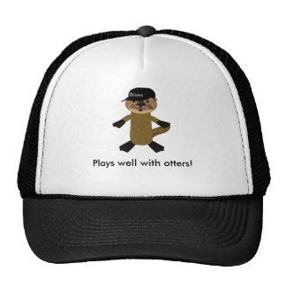 Plays well with otters! mesh hat