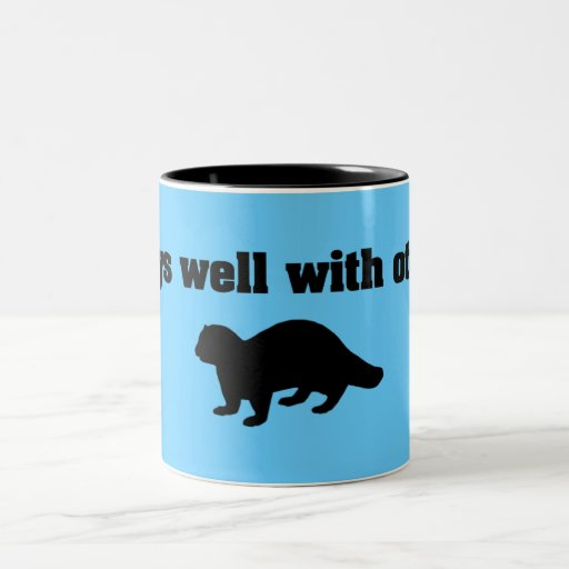 Plays Well With Otters Two-Tone Coffee Mug