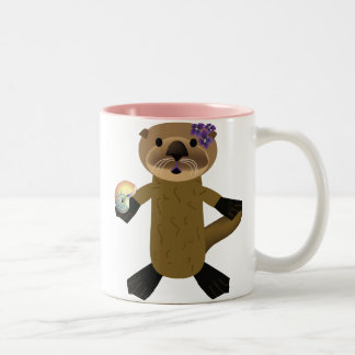 Plays well with otters! Two-Tone coffee mug