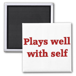 Plays well with self 2 inch square magnet