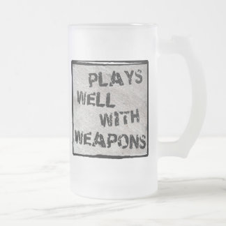 Plays Well With Weapons Coffee Mugs