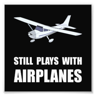 Plays With Airplanes Photo Print