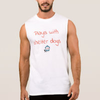 plays with shelter dogs sleeveless shirt
