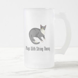 Plays With String Theory Frosted Glass Beer Mug