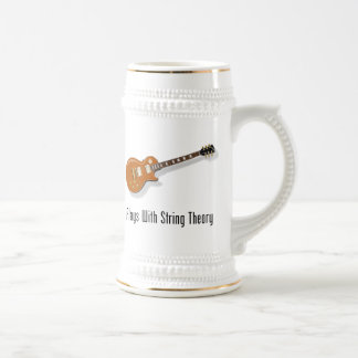 Plays With String Theory - Guitar Beer Stein