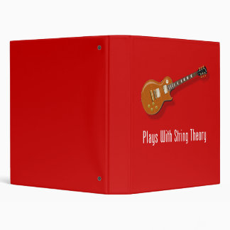 Plays With String Theory - Guitar 3 Ring Binders