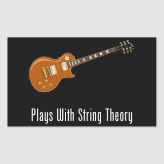 Plays With String Theory - Guitar Rectangular Sticker