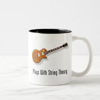 Plays With String Theory - Guitar Two-Tone Coffee Mug
