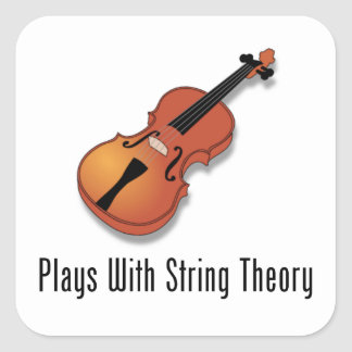 Plays With String Theory - Violin Square Sticker