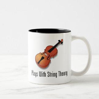 Plays With String Theory - Violin Two-Tone Coffee Mug
