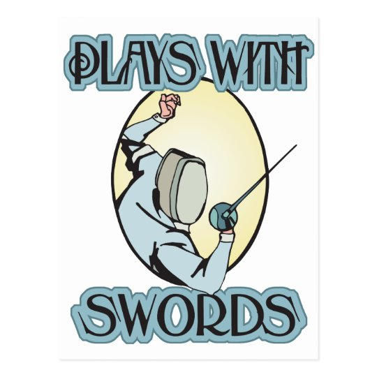 Plays with Swords Postcard