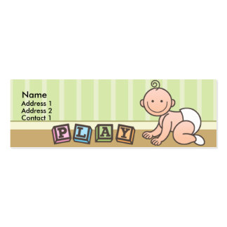 Playtime Baby Skinny Profile Cards Double-Sided Mini Business Cards (Pack Of 20)