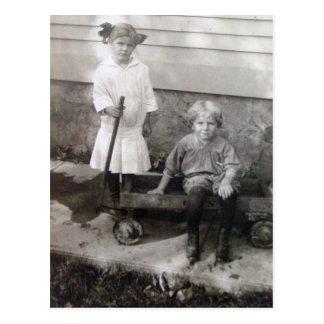 Playtime: Circa 1908 Postcard