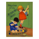 Playtime for the Twins Post Cards