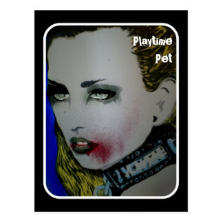 Playtime Pet Zombie Postcard
