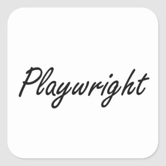 Playwright Artistic Job Design Square Sticker