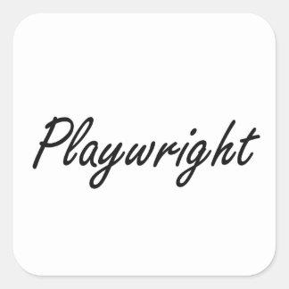 Playwright Artistic Job Design Square Sticker