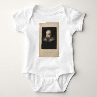 Playwright William Shakespeare by Cornelius Jansen Baby Bodysuit