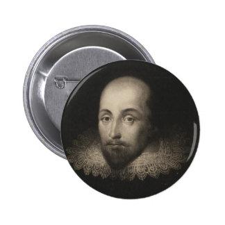 Playwright William Shakespeare by Cornelius Jansen Button