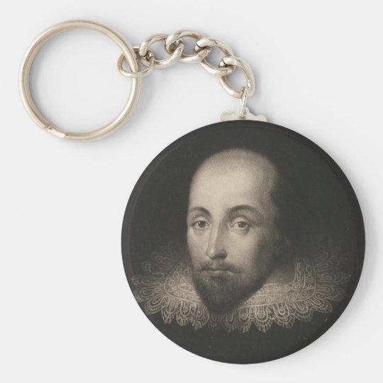 Playwright William Shakespeare by Cornelius Jansen Keychain