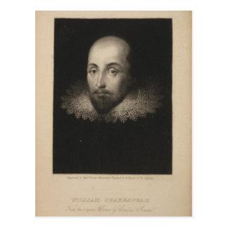 Playwright William Shakespeare by Cornelius Jansen Postcard